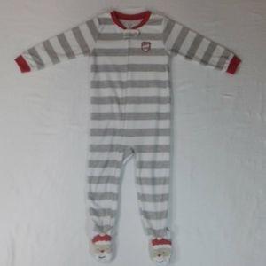 Carter's 3t Santa's Little Helper Footie Pajamas